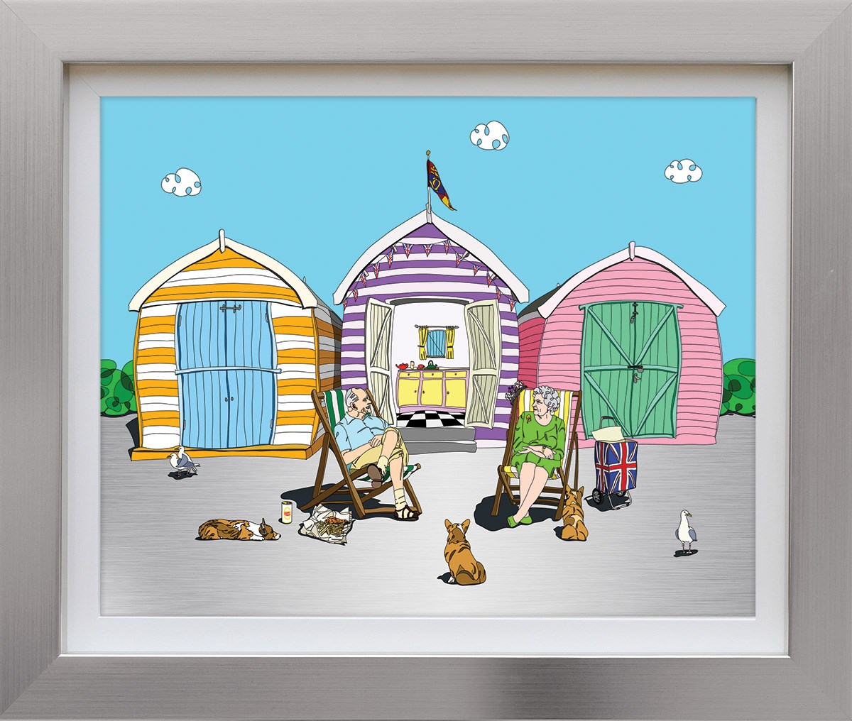 A Right Royal Holiday by Dylan Izaak - Limited Edition on Aluminium sized 19x24 inches. Available from Whitewall Galleries